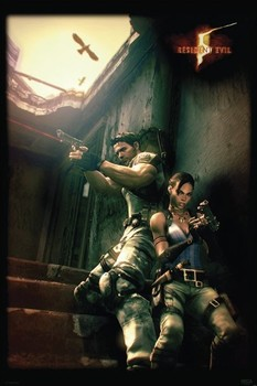 RESIDENT EVIL 5 - against a wall posters | art prints