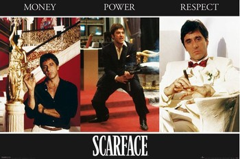 SCARFACE - triptych posters | art prints