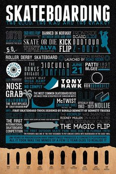 Skateboarding - The Good, The Rad & The Gnarly Poster, Art Print