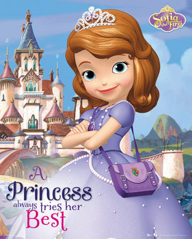 SOFIA THE FIRST - castle Poster, Art Print