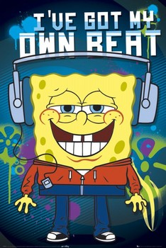 SPONGEBOB - headphones posters | art prints