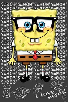 SPONGEBOB - i love nerds posters | art prints
