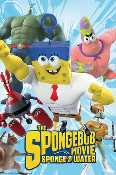 Spongebob The Movie - Characters Poster, Art Print