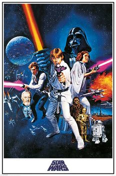 Star Wars A New Hope - One Sheet Poster, Art Print