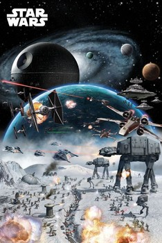STAR WARS - battle posters | art prints