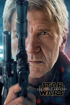Star Wars Episode VII: The Force Awakens - Hans Solo Teaser Poster, Art Print