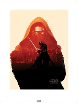 Star Wars Episode VII: The Force Awakens - Kylo Ren Tri Art Print