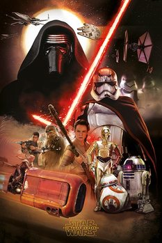 Star Wars Episode VII: The Force Awakens - Montage Poster, Art Print