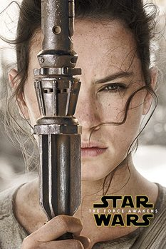 Star Wars Episode VII: The Force Awakens - Rey Teaser Poster, Art Print