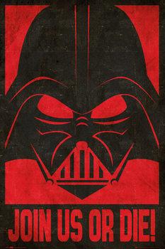 STAR WARS - join us stencil Poster, Art Print
