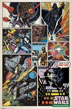 Star Wars - Retro Comic Poster, Art Print