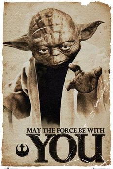 STAR WARS - yoda may the force Poster, Art Print