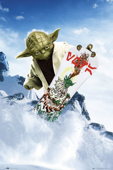 STAR WARS - yoda snowboard posters | art prints