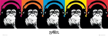 Steez - monkey Poster, Art Print