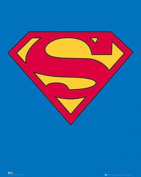 SUPERMAN - classic logo Poster, Art Print