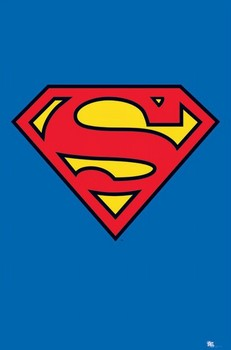 SUPERMAN - logo Poster, Art Print