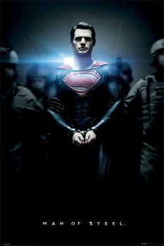 SUPERMAN MAN OF STEEL - handcuffs Poster, Art Print