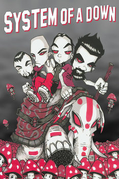 System of a Down - Mushrooms Poster, Art Print