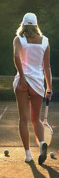 Tennis girl Poster, Art Print