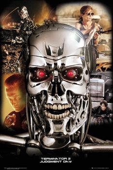 Terminator 2 - Collage Poster, Art Print