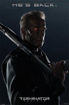 Terminator Genisys - He's Back Poster, Art Print