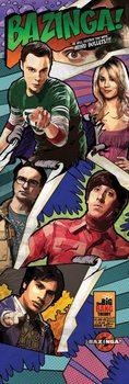 The Big Bang Theory - Comic Bazinga Poster, Art Print