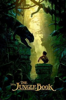 The Jungle Book - Bagheera & Mowgli Teaser Poster, Art Print
