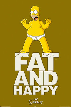 THE SIMPSONS - fat and happy posters | art prints