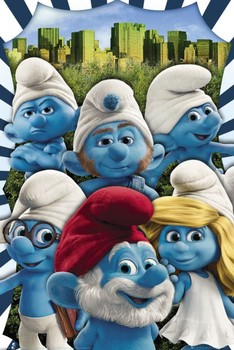 THE SMURFS - new york posters | art prints