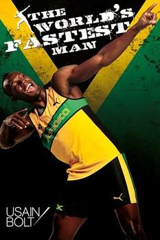 Usain Bolt - fastest man Poster, Art Print