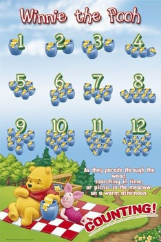 WINNIE THE POOH - counting posters | art prints