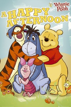 WINNIE THE POOH - happy afternoon posters | art prints
