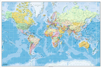 WORLD MAP 2011 - in english posters | art prints