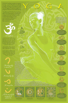 Yoga and its symbols Poster, Art Print