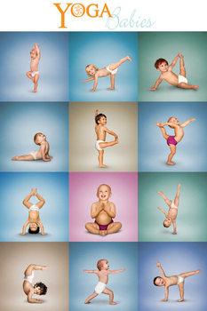 Yoga - Babies Grid Poster, Art Print
