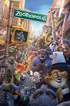Zootopia - One Sheet Poster, Art Print