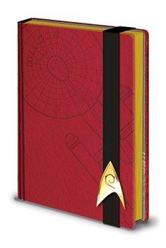Star Trek - Engineering Red Premium A5 Notebook Stationery