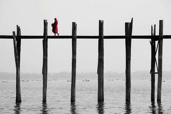 Obraz Buddhist Monk on the Jetty