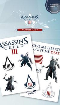 Tatuaż Assassin's Creed III - connor & logos