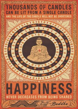 Thousand of Candles - Buddha, Happiness Wall Mural