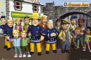 FIREMAN SAM - cast Affiche, poster, photographie