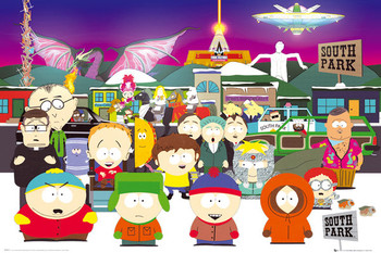 SOUTH PARK - group Affiche, poster, photographie