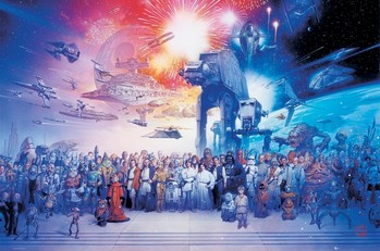 STAR  WARS - cast Affiche, poster, photographie