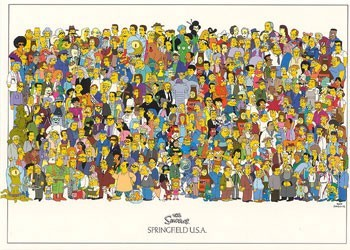 THE SIMPSONS - all springfield Affiche, poster, photographie