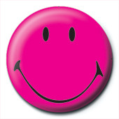 SMILEY - pink Badge