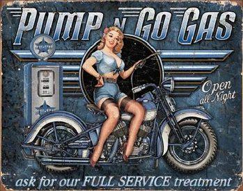 PUMP N GO GAS Carteles de chapa