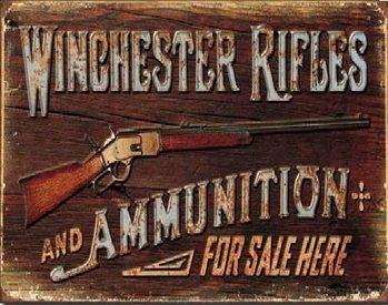 WINCHESTER - For Sale Here Carteles de chapa