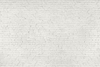 Biała ściana z cegieł Fototapeta