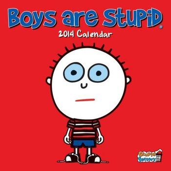 Calendar 2014 - BOYS ARE STUPID Kalendarz