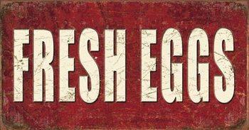 Metalowa tabliczka Fresh Eggs